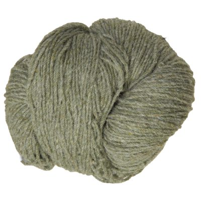 Aran knitting wool in Lichen Green. 100% Pure New Wool product made in Ireland by Kerry Woollen Mills. From washed fleece through dying, blending, carding, spinning and skeining this Irish wool product is certified Authentic Irish . Colour inspired by nat