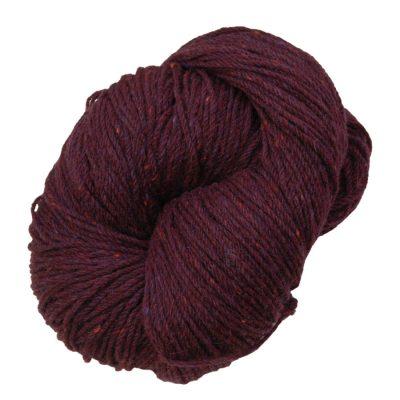 Aran knitting wool Plum Tweed