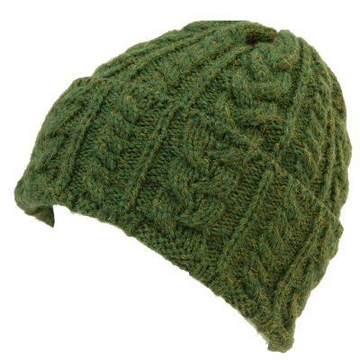 wool Beanie Aran Green