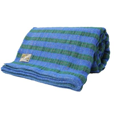 wool blanket special offer lilac green stripe