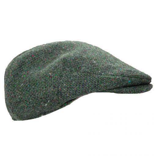 tweed wool woven flat cloth cap