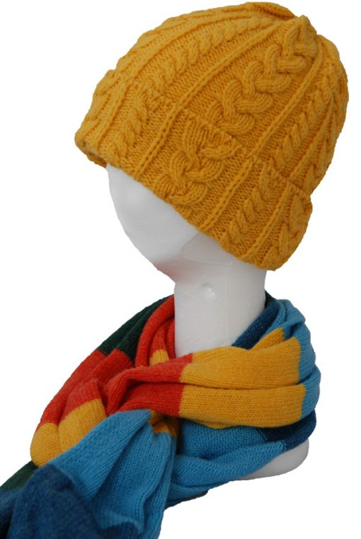 merino wool cornflower hat and matching Carnival scarf .