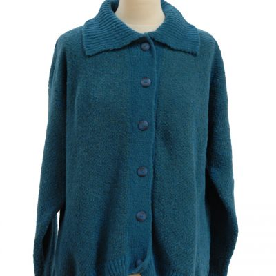 Celtic cardigan Teal-L