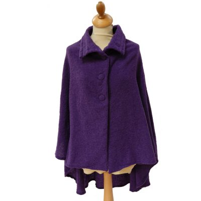 Celtic wool cape Royal Purple