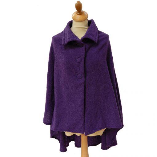 Celtic wool cape Royal Purple