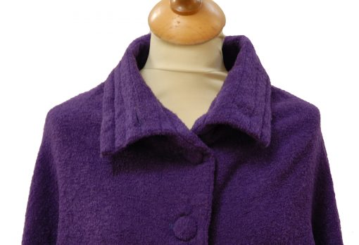 Celtic wool cape Royal Purple detail