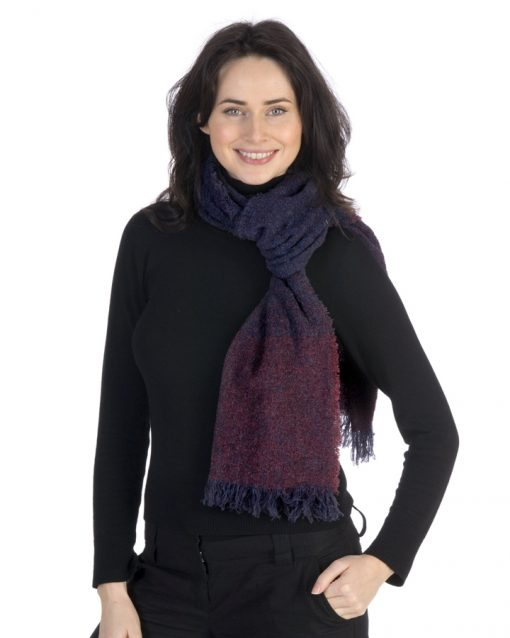 celtic wool stole Blueberry wine