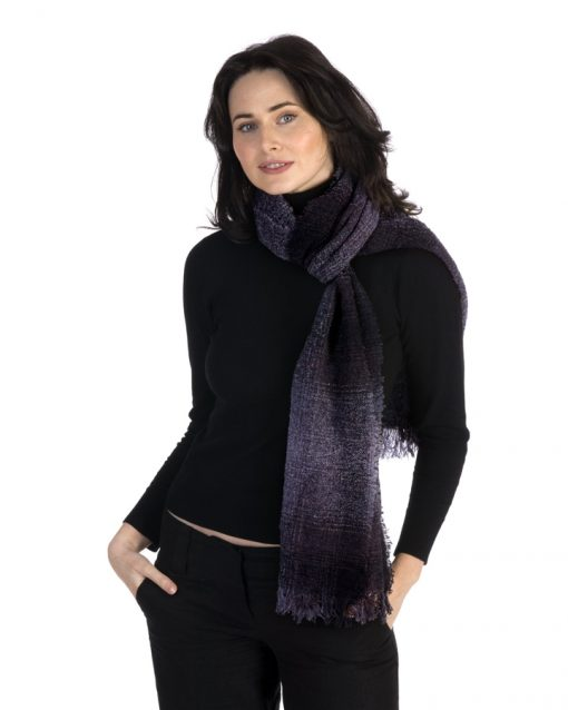 celtic wool scarf plum check