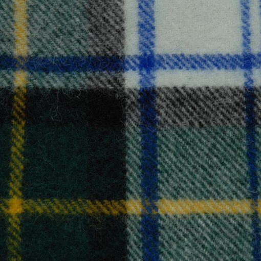 Killarney wool blanket throw in Dress Gordon detail
