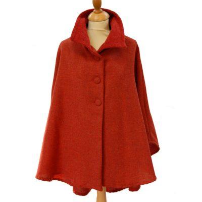 Florida Sunset Tweed wool cape 1