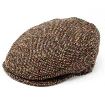 Irish Tweed cap in Brown Fleck. Guaranteed Irish from fleece to finished product.