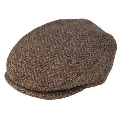 tweed cap Brown Herringbone 514D