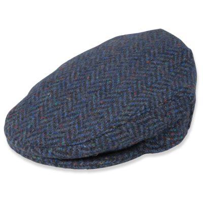 Irish tweed cap Blue Herringbone 516A.