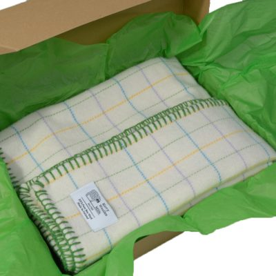 Supersoft lambswool baby blanket in gift box