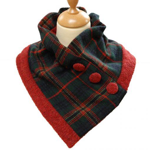 Kennedy Tartan collar on model