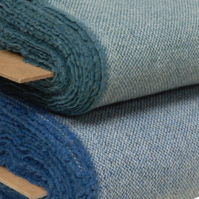 Altered twill blue fabrics