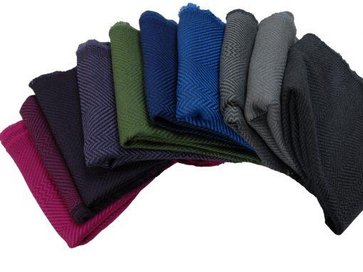 100% cashwool scarf swatch