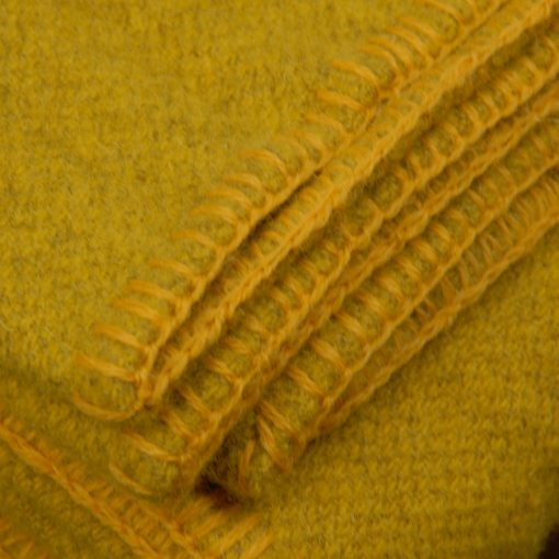 Killarney wool blanket Daffodil Yellow 2 detail