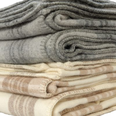 Killarney lambswool plaid blankets