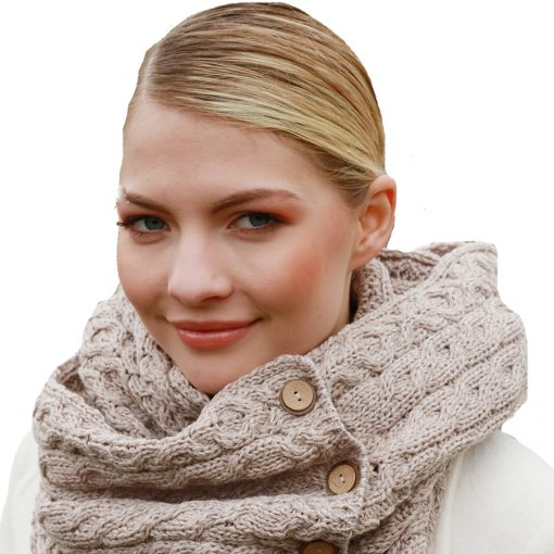 Knitted Snood Camel-Oatmeal A518