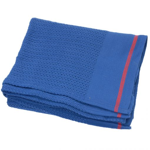 Polyester cellular blankets Deep Blue