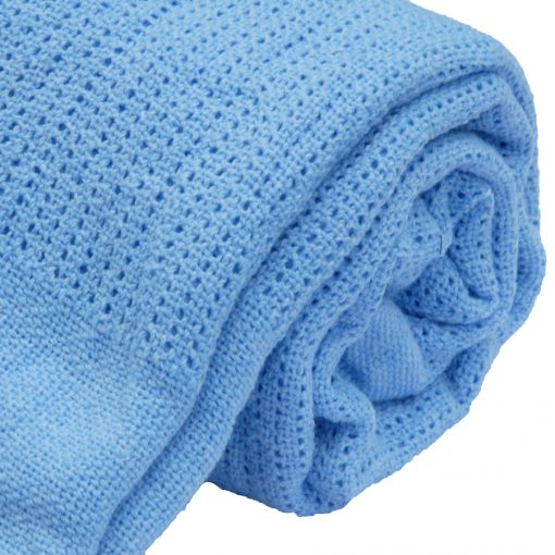 Polyester cellular blanket Light Blue
