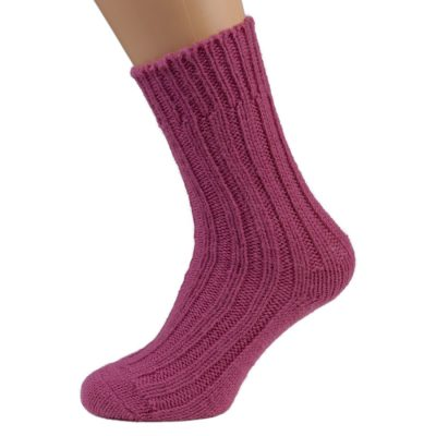 100% Pure New Wool socks in Blossom Pink