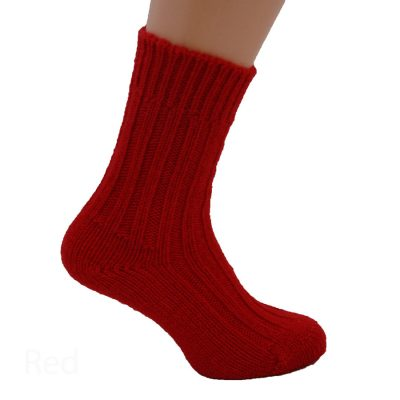 Thick wool sock- Warm Red