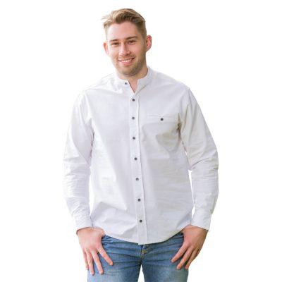 Traditional grandfather shirt FL43 White