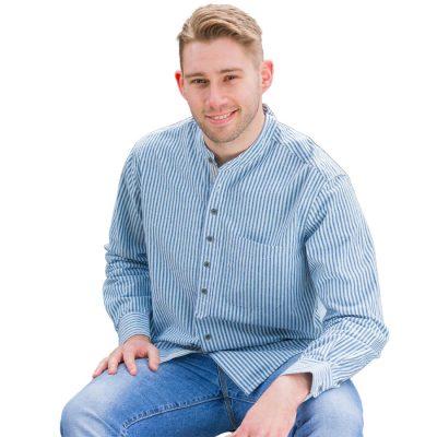 Traditional Irish collarless shirt VR17