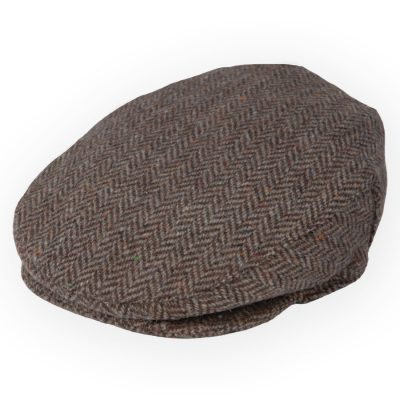 Irish tweed cap Brown Fawn Herringbone