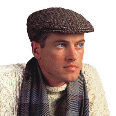 Mens Tweed caps beanies and gloves