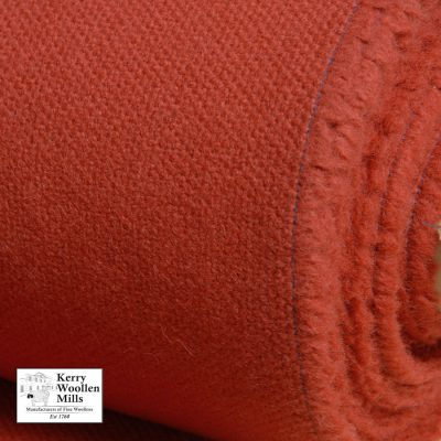 Upholstery wool fabric in Brick Red.