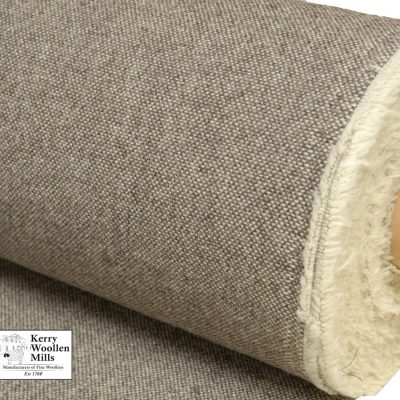 Upholstery fabric JacobTweed is natural undyed wool from Jacob sheep. Made in Kerry Ireland by Kerry Woollen Mills