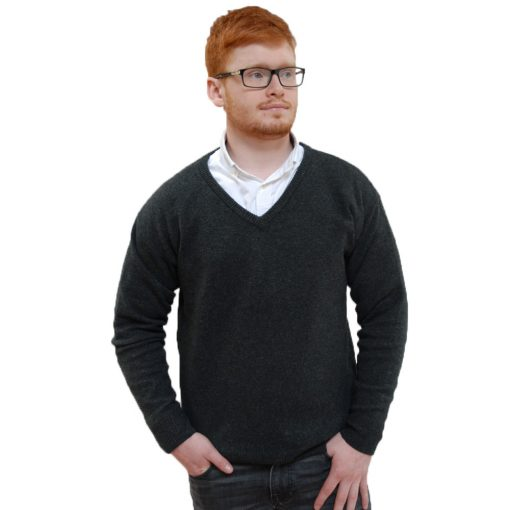 Stylish & classic V neck soft wool sweater in 70% merino 30% cashmere blend. Soft handle to wear and touch