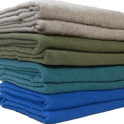 Wool blanket stack- Marl Queen