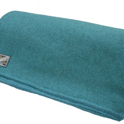 wool blanket in teal colour