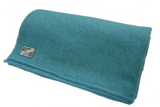 wool blanket in teal colour