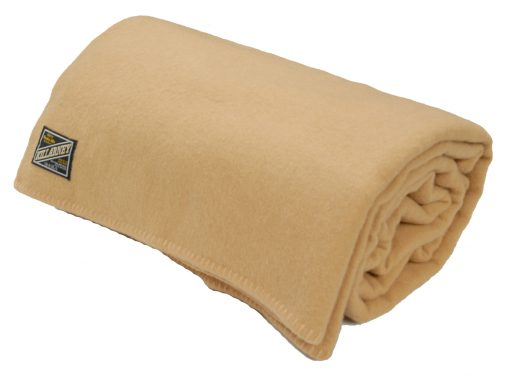 blanket wool nylon double camel
