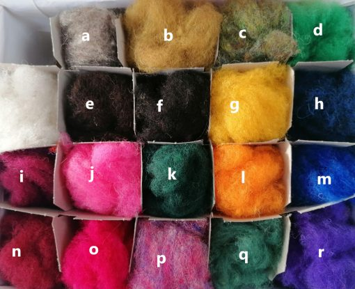 carded wool colours Feb 2021