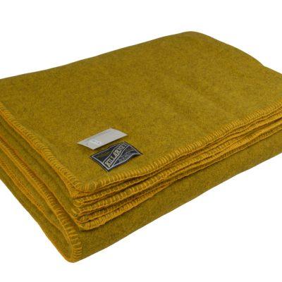 wool blanket Gorse Yellow Queen
