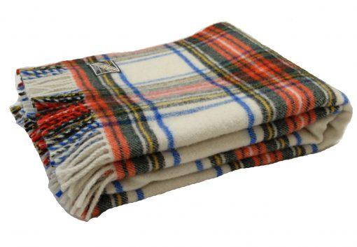 killarney wool blanket throw in Dress Stewart tartan