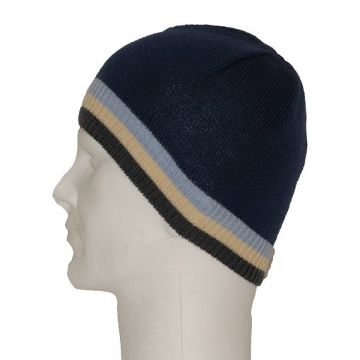 Navy men's wool beanie cap