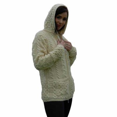 f8bcffbc2 Aran Wool Long Zip Jacket