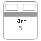 king bed size