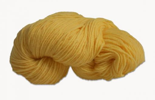 Hank of yellow knitting wool