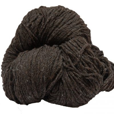 Hank of dark jacob aran knitting wool