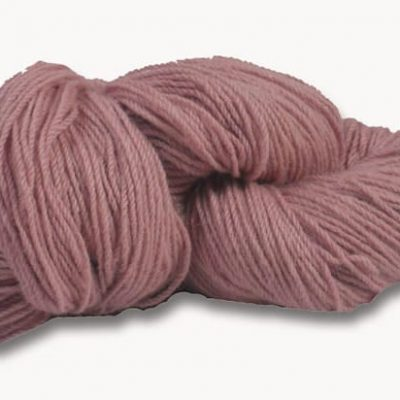 Hank of dusty pink knitting wool
