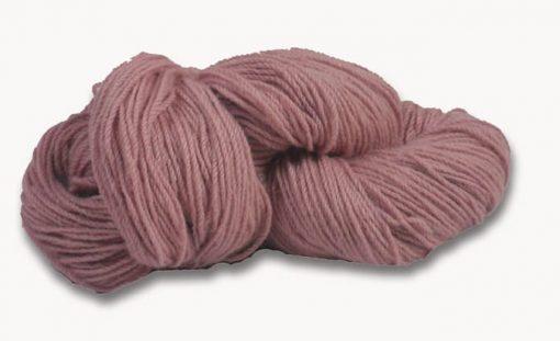 Hank of dusty pink knitting wool