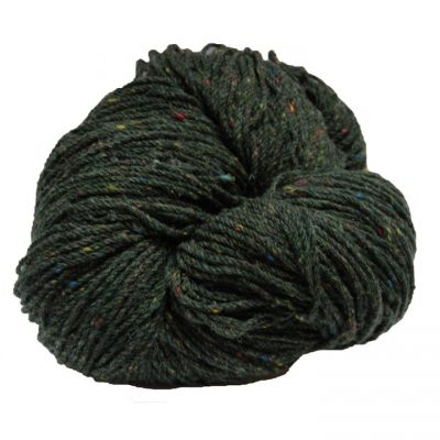 Hank of green fleck knitting wool